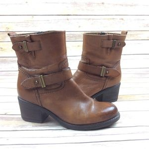 Brown Boots Mid Clarks Shoes Poshmark Leather Calf SUWqW157wn
